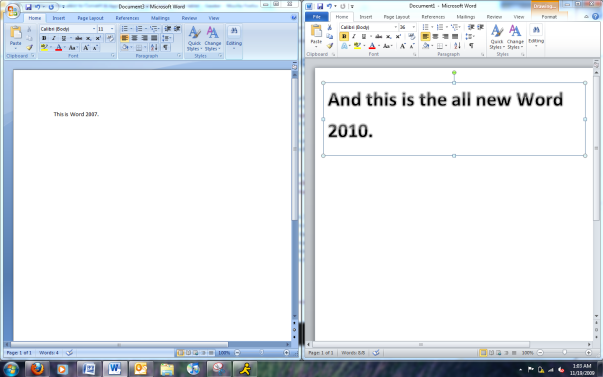 office 2007 vs office 2010