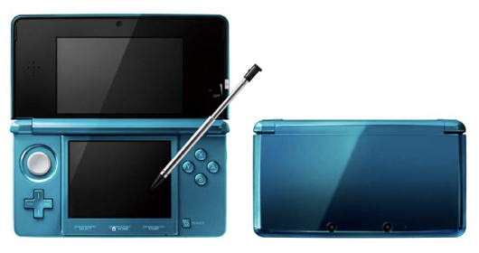 nintendo 3ds blue