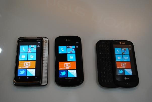 att wp7 phones