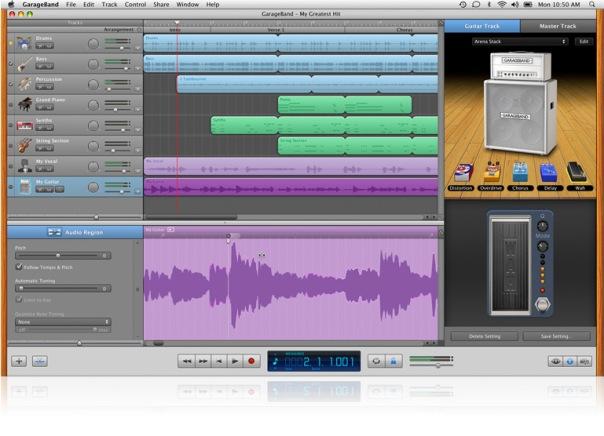 garageband 11 flex time and groove matching
