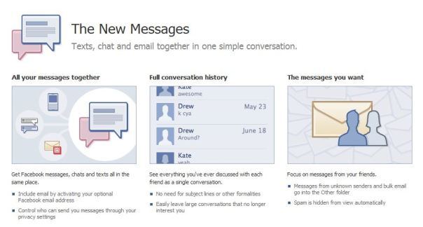 facebook messages 2010 update