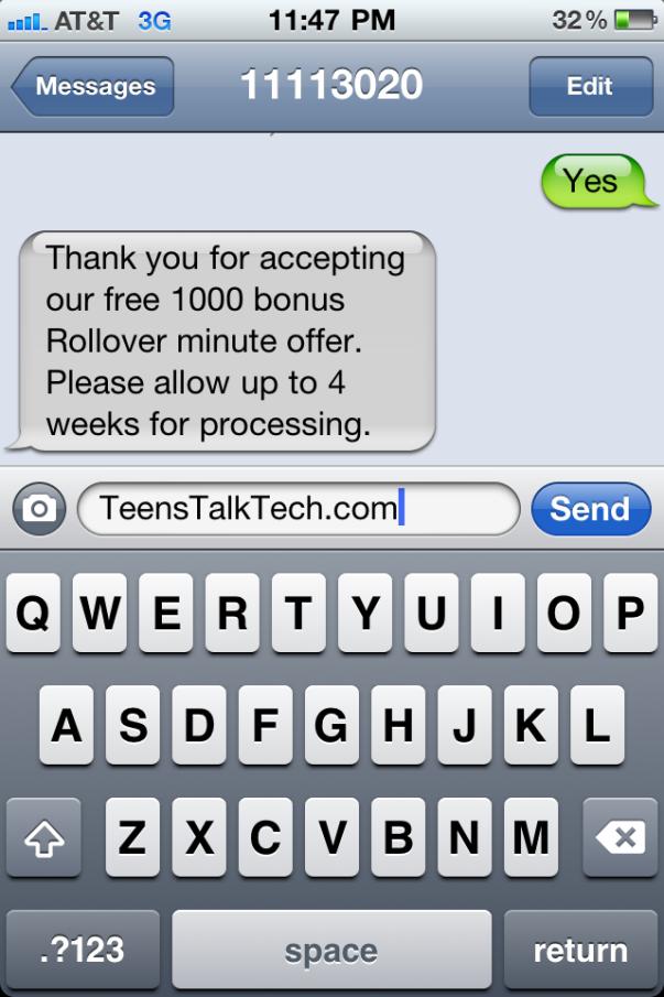 att free 1000 rollover minutes
