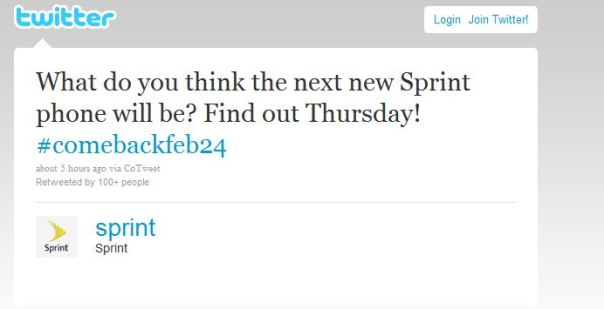 sprint feb24 tweet