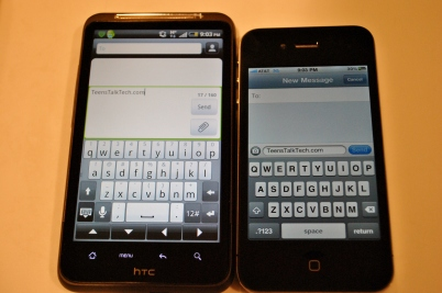 inspire vs iphone keyboard
