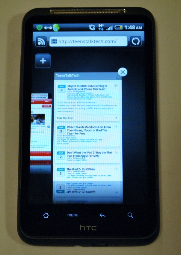 htc sense 2.0 pinch tab browsing