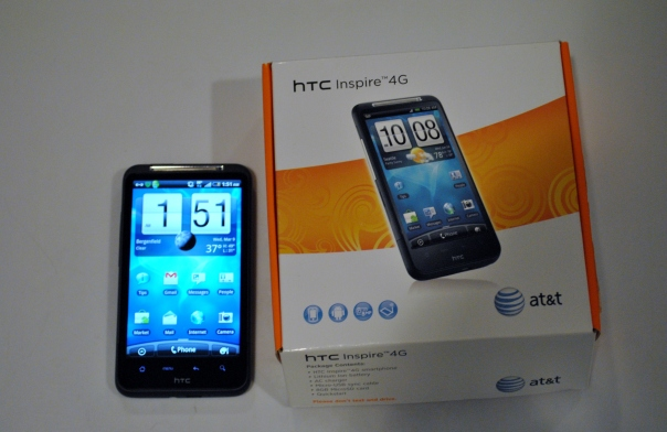 htc inspire 4g with box