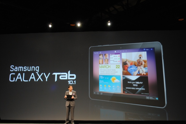 galaxy tab 10.1 announcement