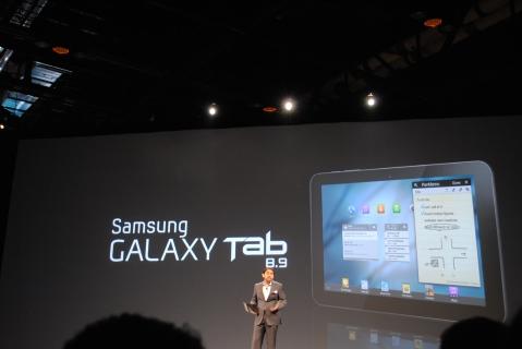 galaxy tab 8.9 announcement