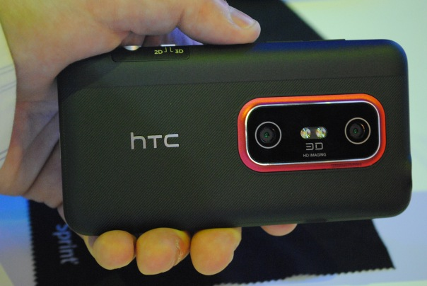 evo 3d back 3d camera