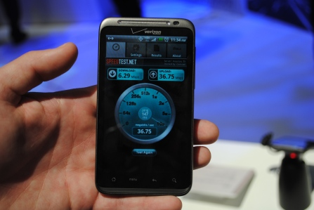 htc thunderbolt first look speed test