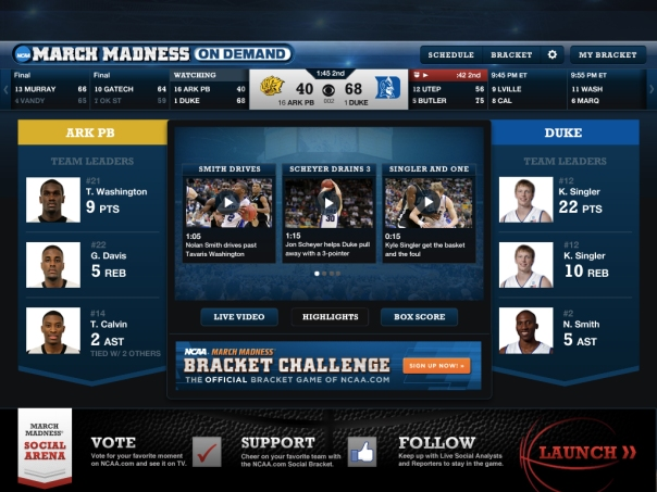 march madness on demand ipad