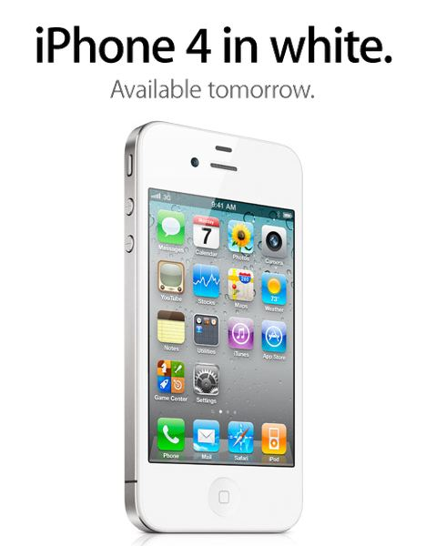 white iphone 4 official