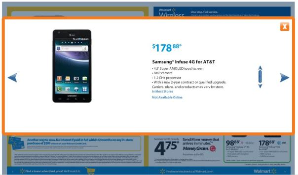 walmart infuse 4g 2