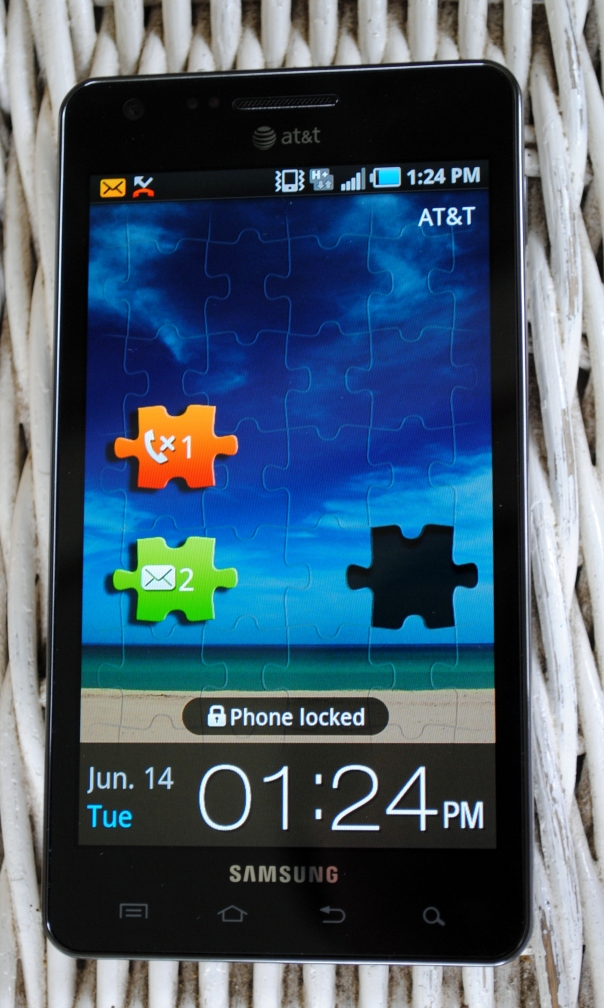 infuse 4g lock screen