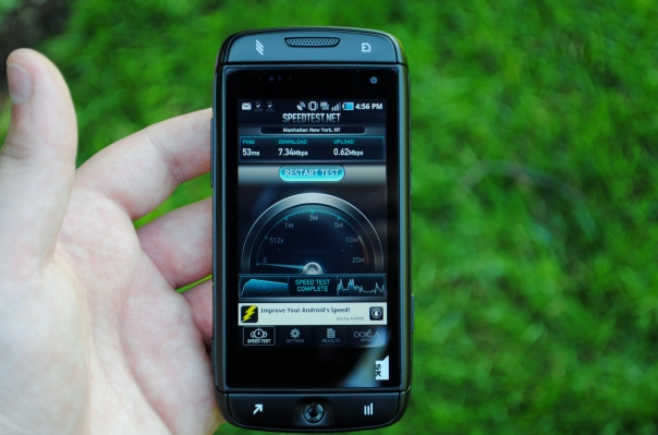 sidekick 4g speed test