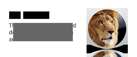 os x lion logo