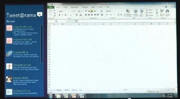 windows 8 app next to windows 7 app