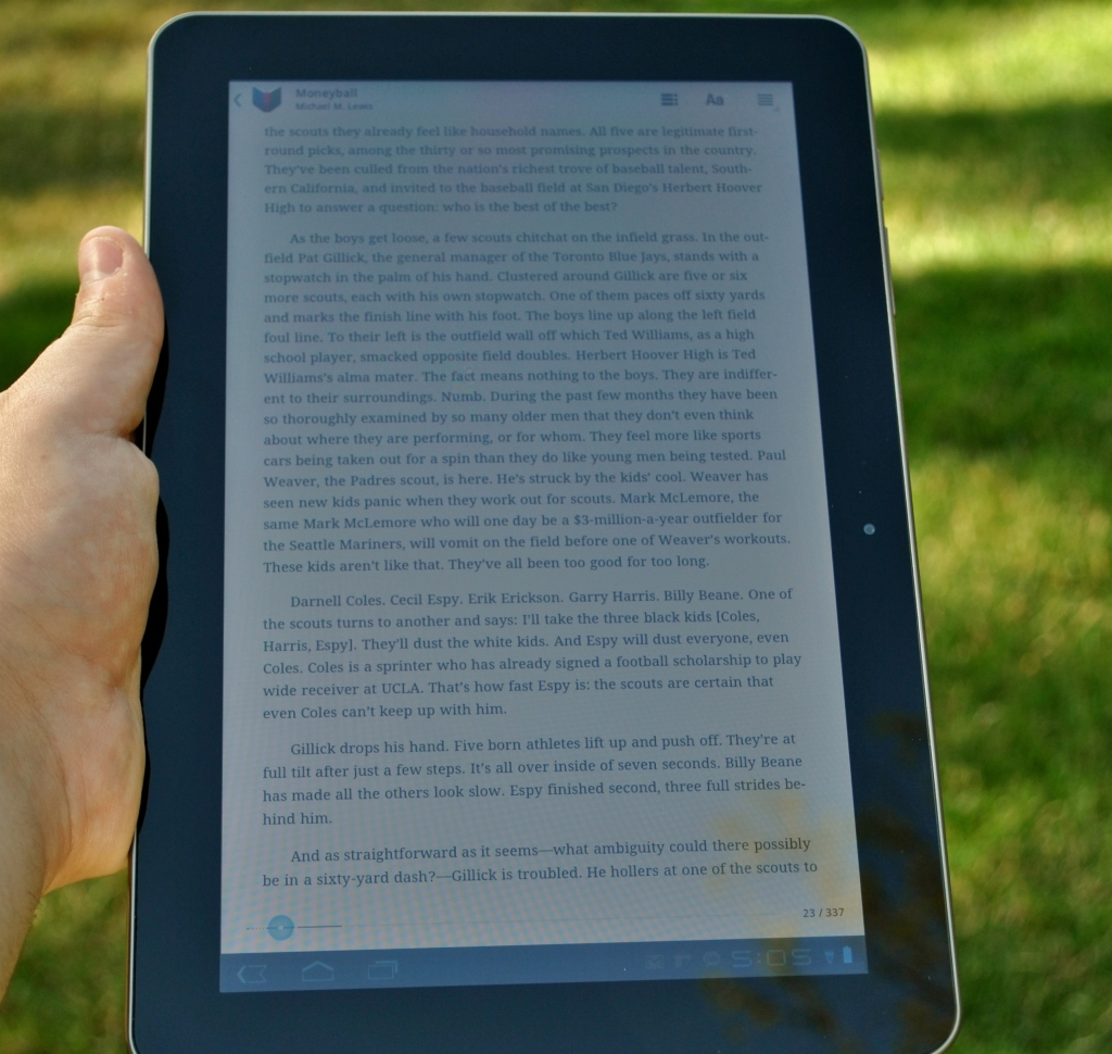 Galaxy Tab Google Books