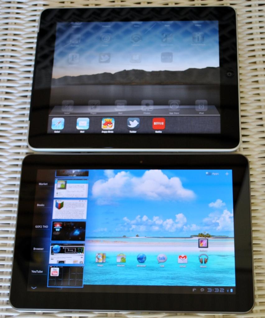 Galaxy Tab vs iPad multitasking