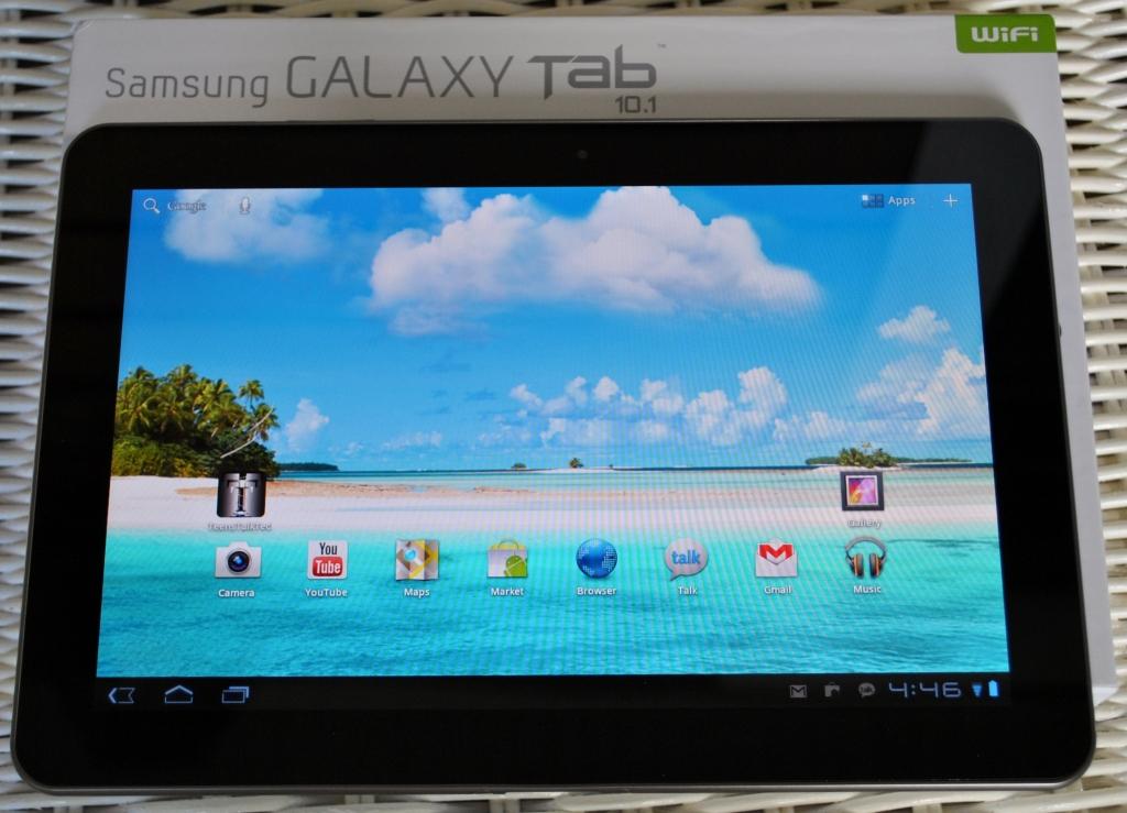 Galaxy Tab with box