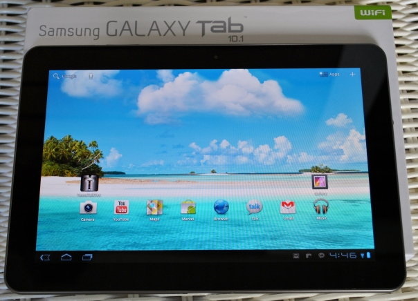 Galaxy Tab with box