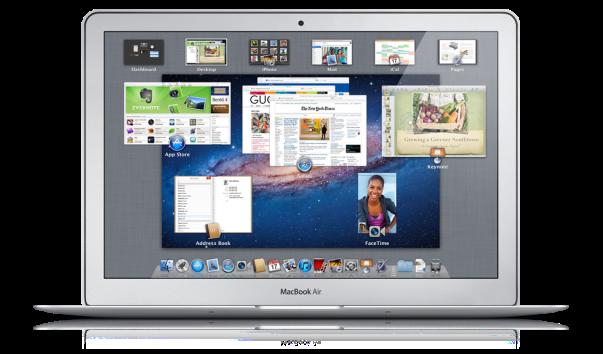 lion on macbook air