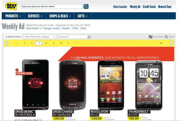 droid bionic best buy lineup