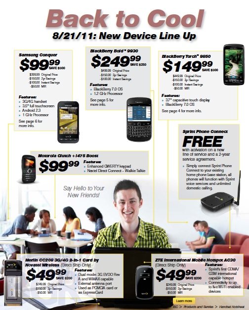sprint bb bold price leak