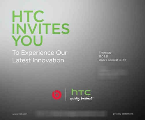 htc beats event november