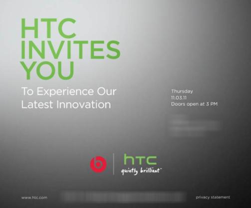 htc beats event november