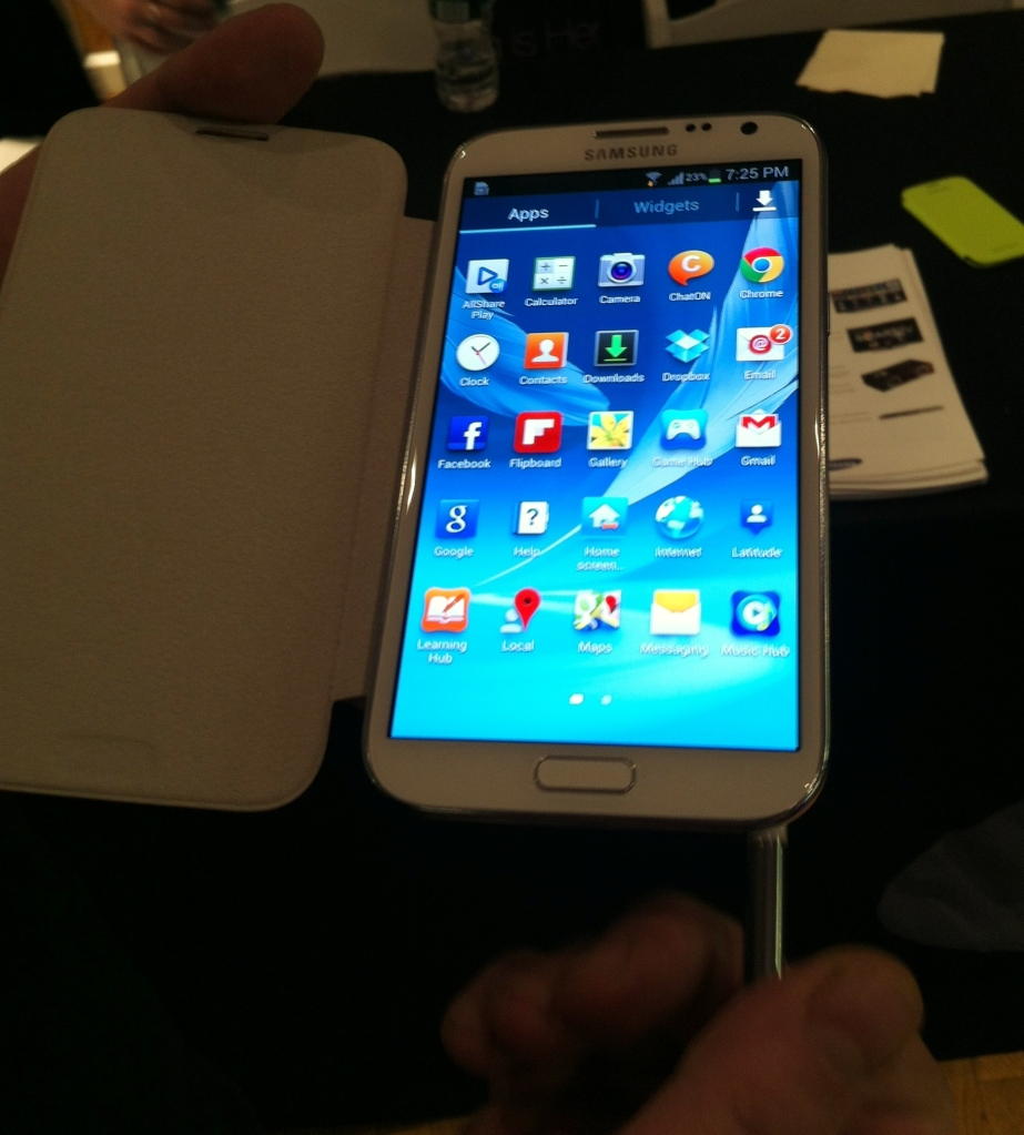 galaxy note 2 hands on 2