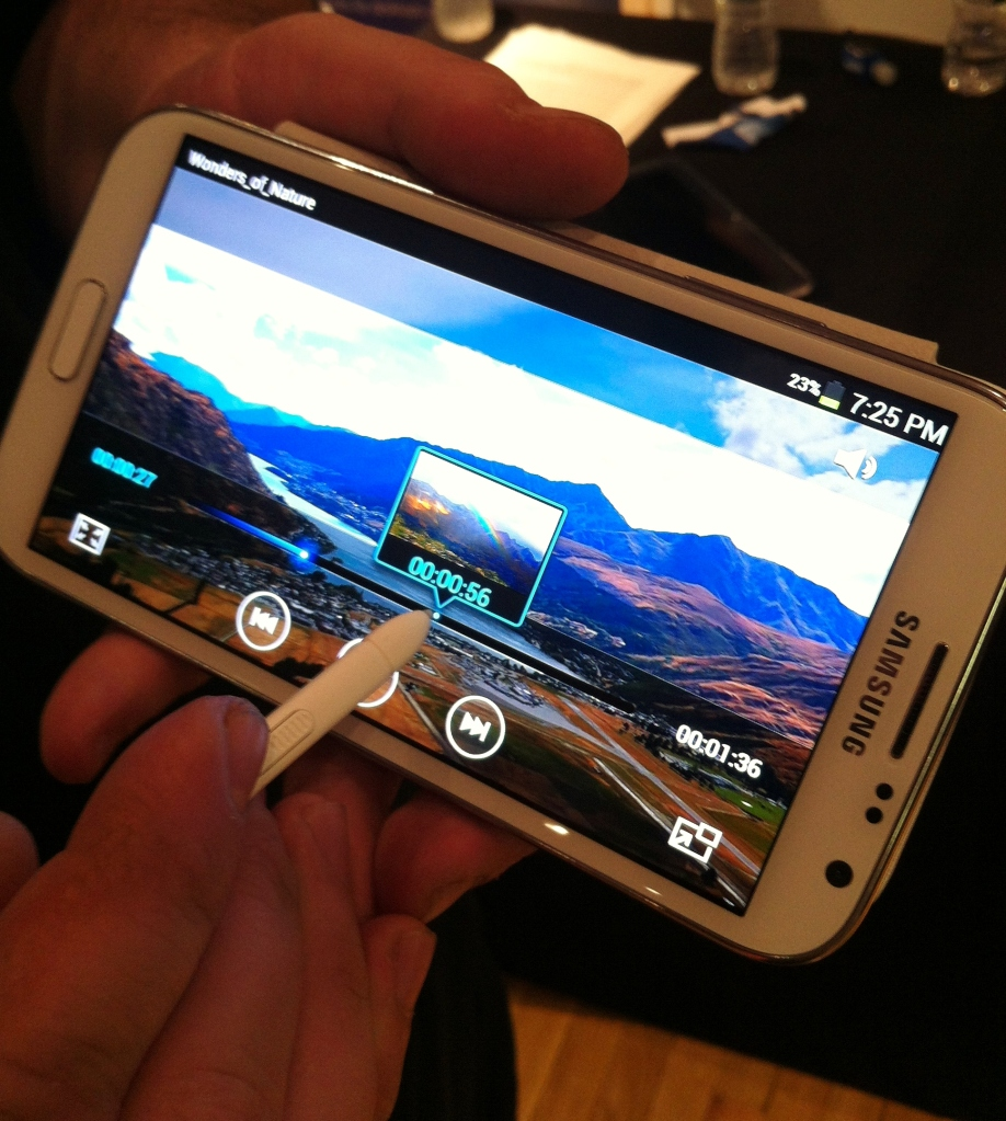 galaxy note 2 hands on 3
