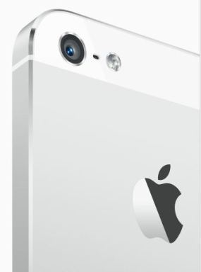 iphone 5 isight camera white