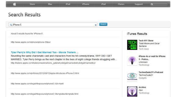 iphone 5 leak apple search