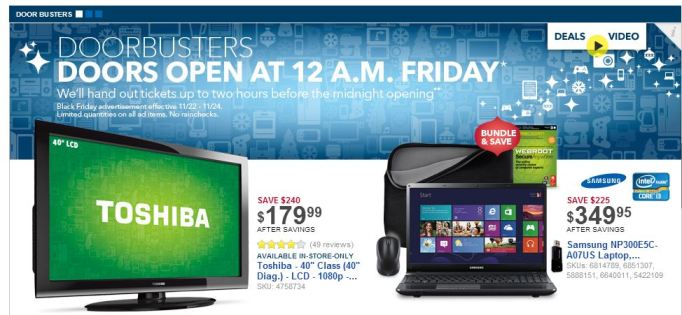 best buy toshiba black friday
