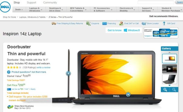 dell inspiron 14z black friday