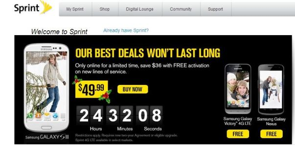 sprint galaxy s iii black friday