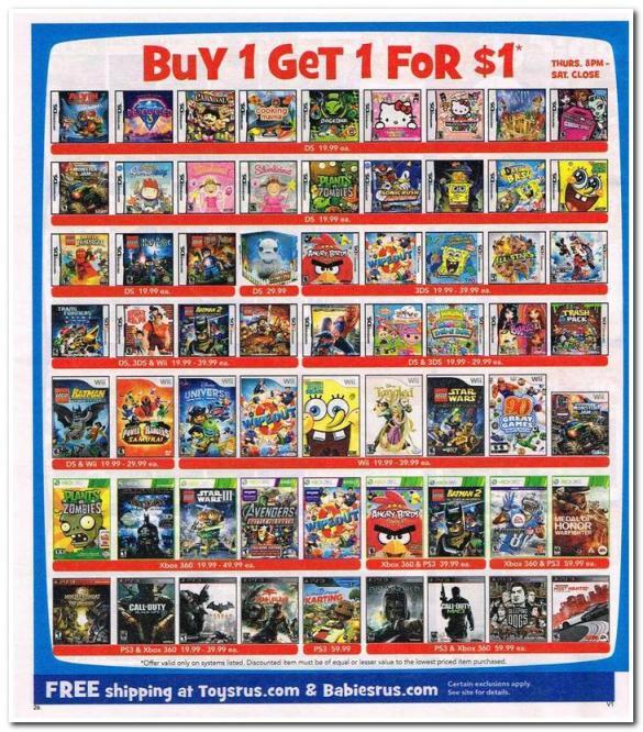 toysrus video games black friday