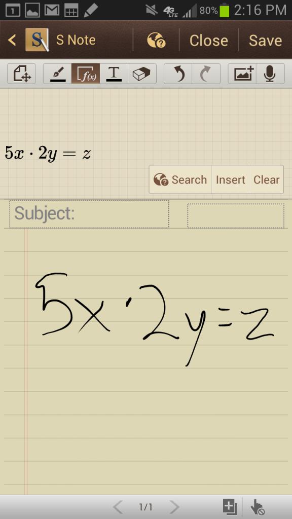 s note math