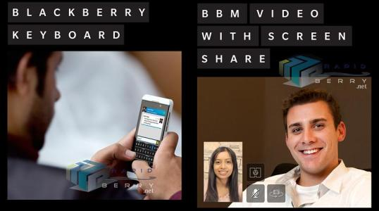 bb 10 keyboard and bbm video chat