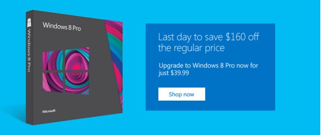 windows 8 last day $40