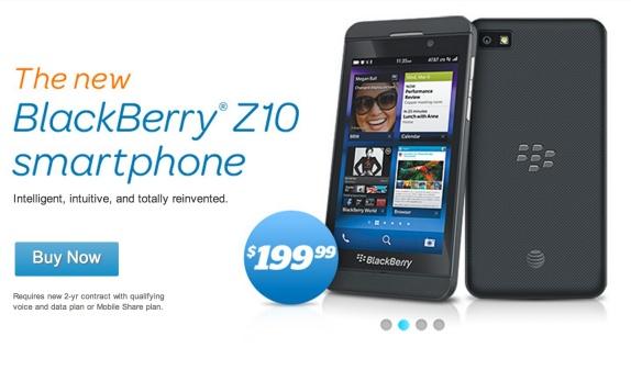 blackberry z10 att