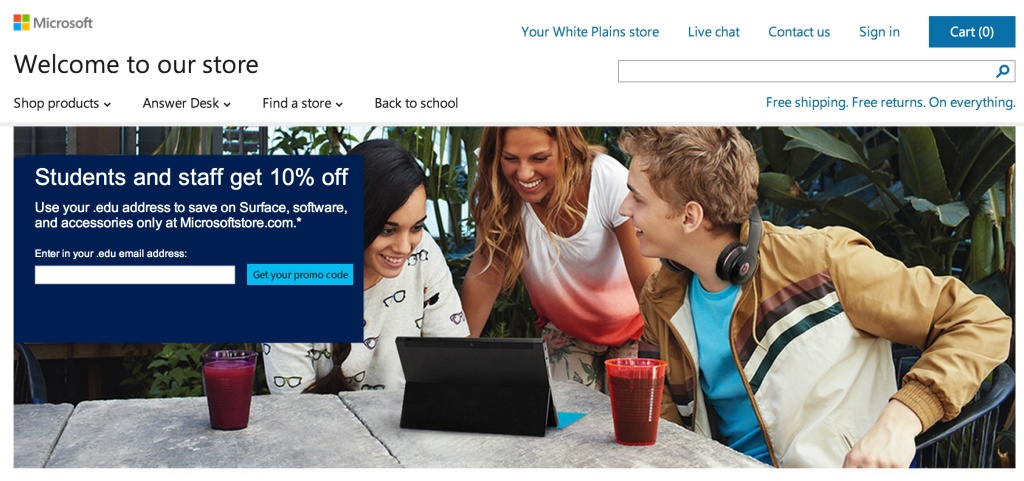 microsoft store back to school