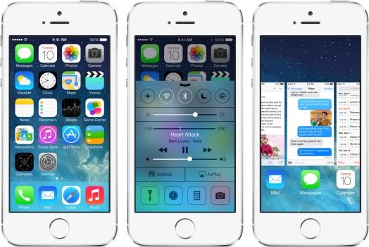 iO S 7 iphone 5s