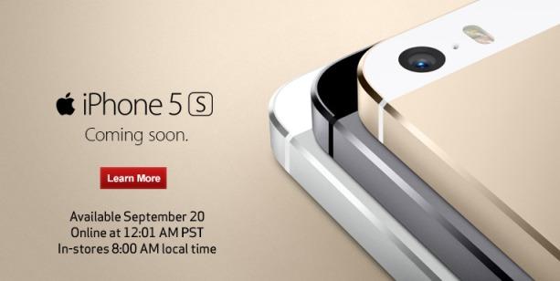 iPhone 5s launch verizon