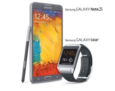 sprint galaxy gear and galaxy note 3